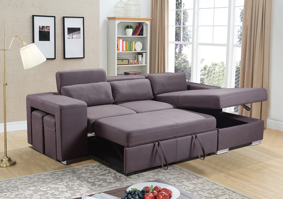Pasadina Corner Sleeper Couch Same Day