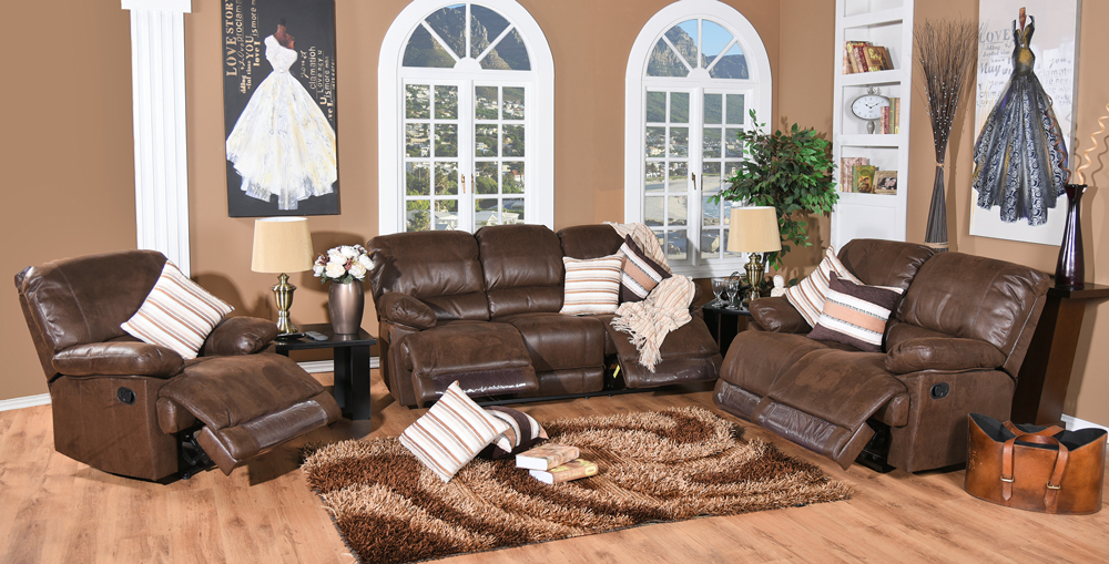 3piece Milan 5 Action Recliner Lounge Suite - Discount Decor - cheap ...