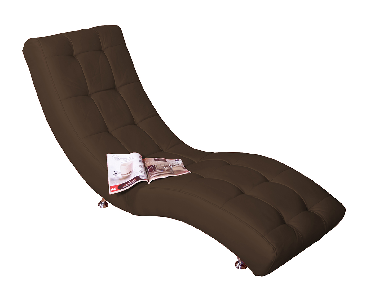 S Chaise Lounge Brown