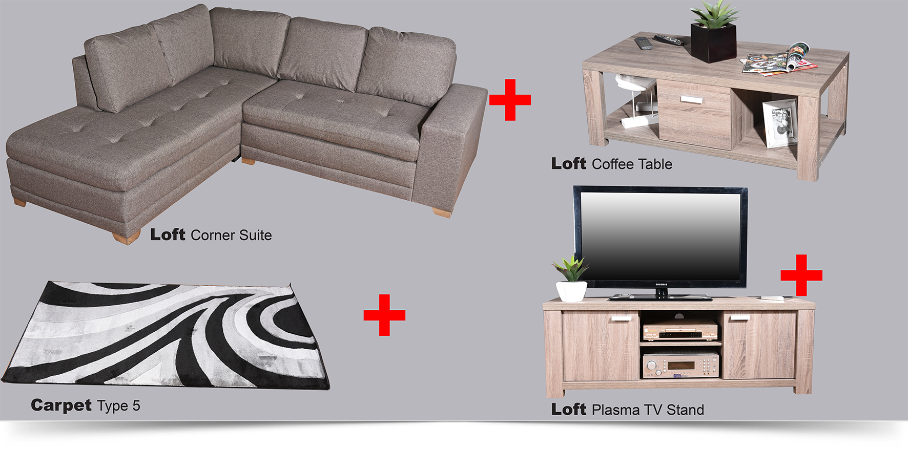 Loft Package Deal | Complete Living room for only R11 999