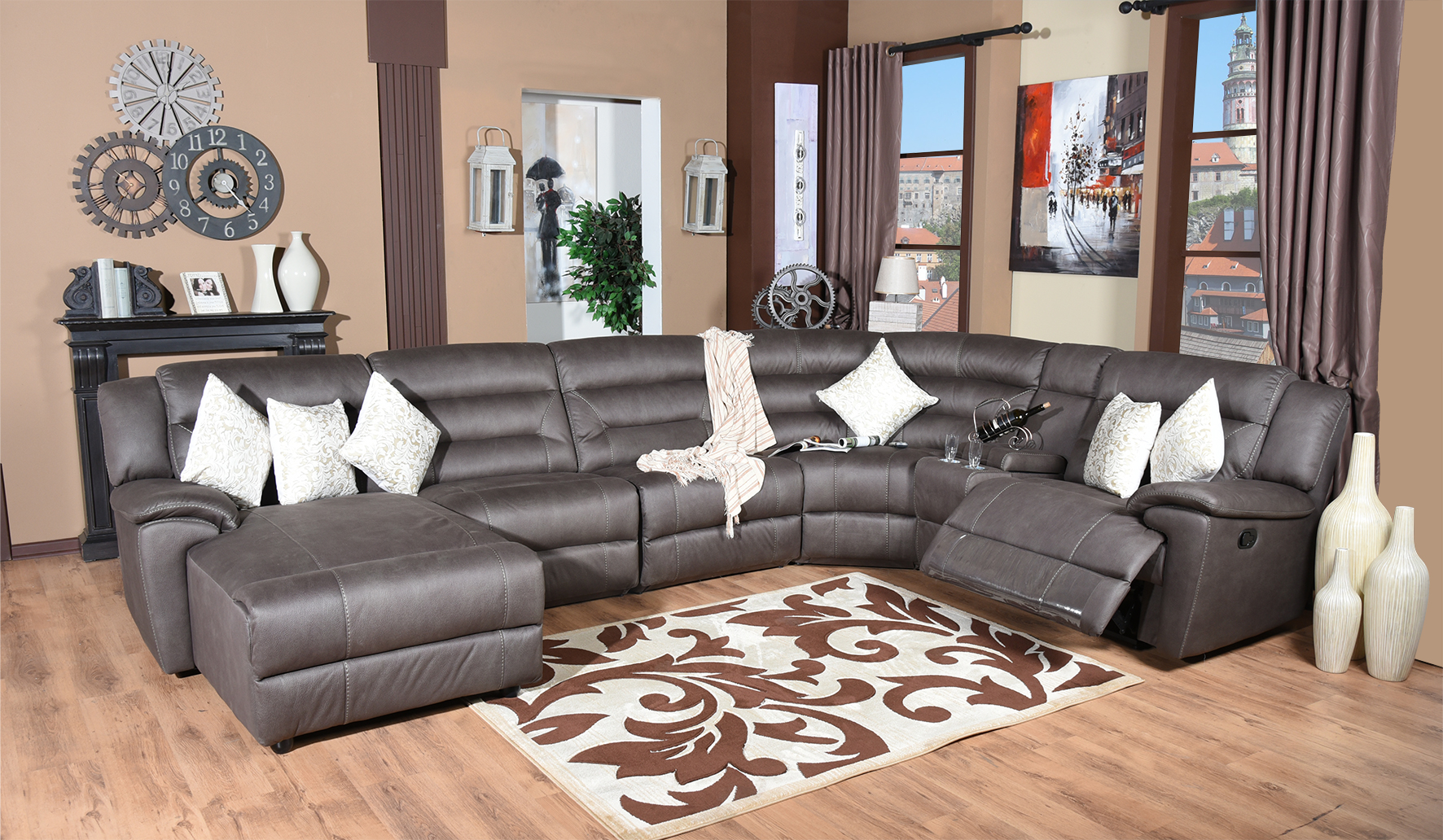 Mirage recliner corner suite corner couch corner sofa for Cheap designer furniture johannesburg