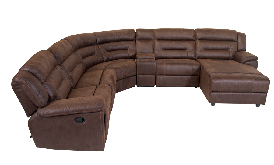 Mirage Recliner Corner Suite Brown