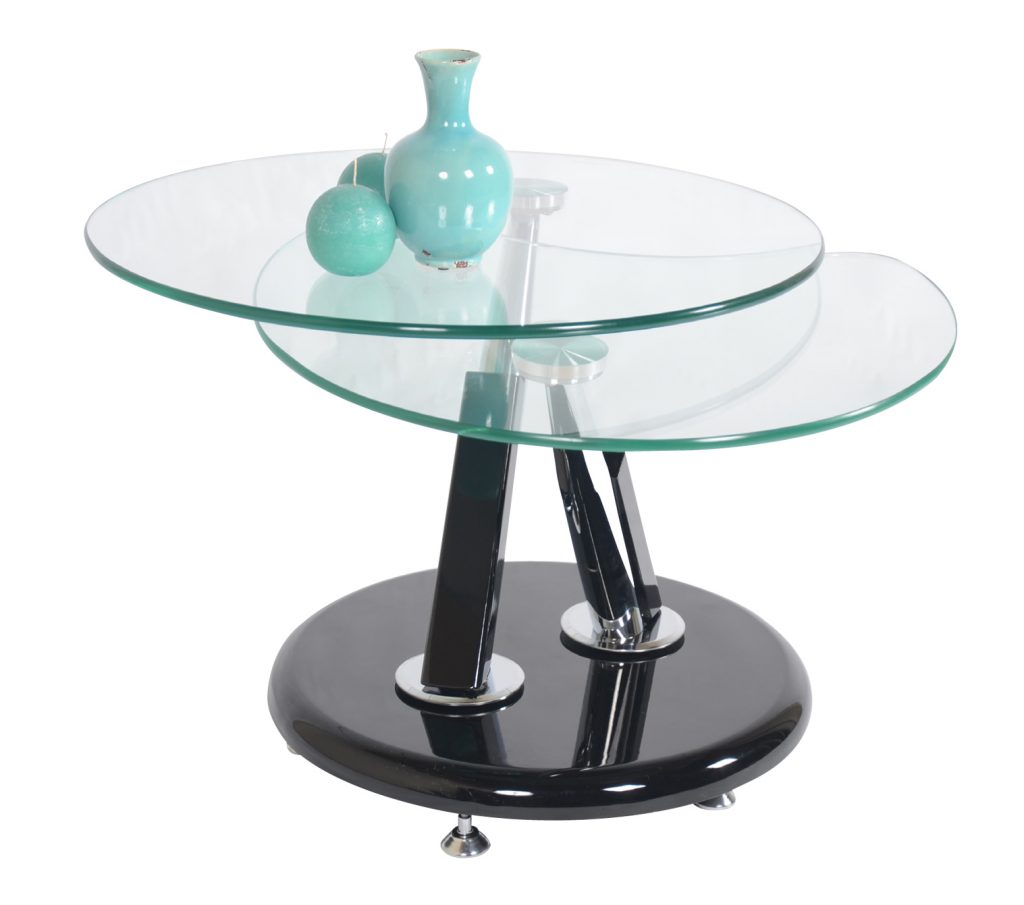 Jupiter Glass Swivel Coffee Table