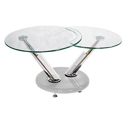 Jupiter Glass Swivel Coffee Table