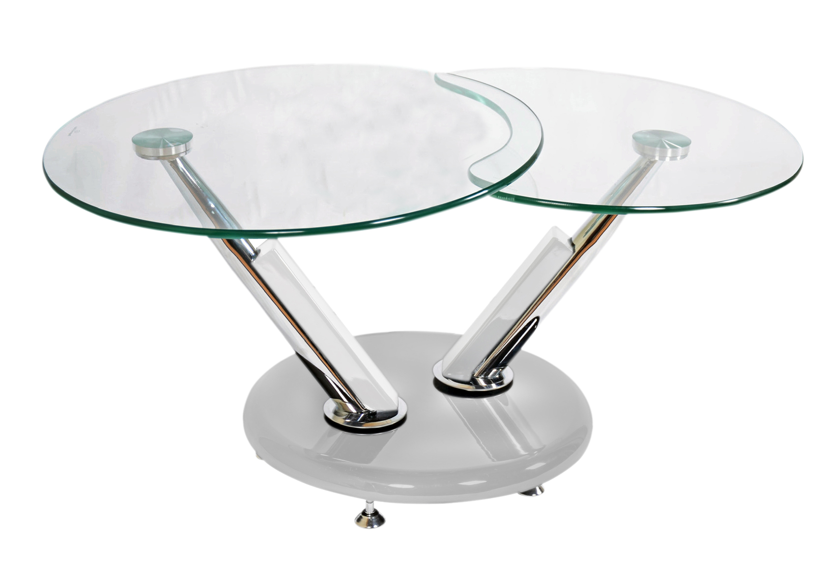 ... Jupiter Glass Swivel Coffee Table White ...
