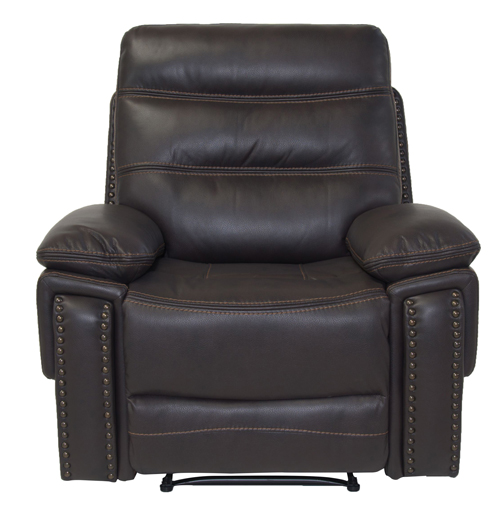 Manhattan-recliner-brown-front-