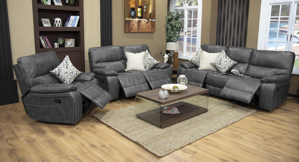 Harmony Recliner Lounge Suite – Grey