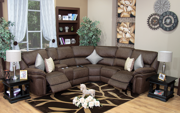 new product b35f5 30dd5 Diego Corner Recliner Suite