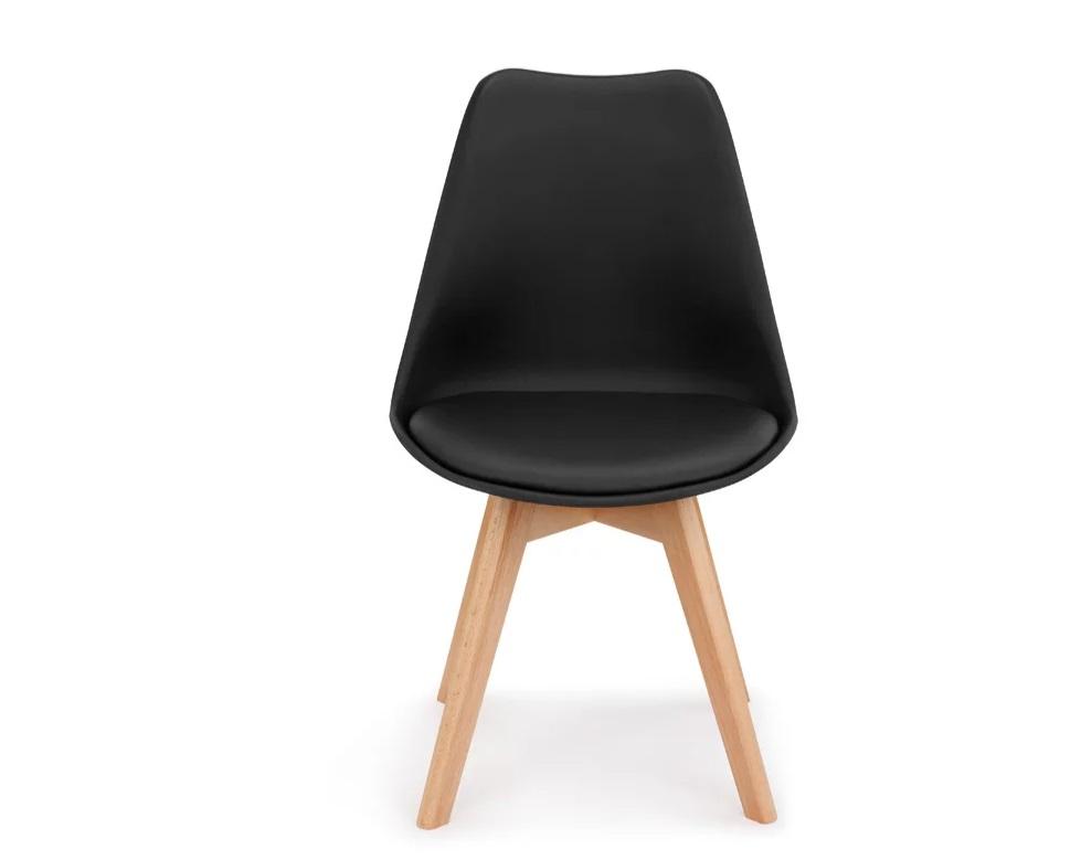 Retro Pad Chair Black (1)