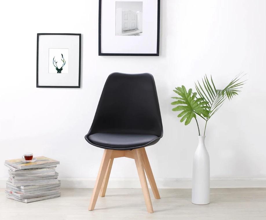 Retro Pad Chair Black (2)