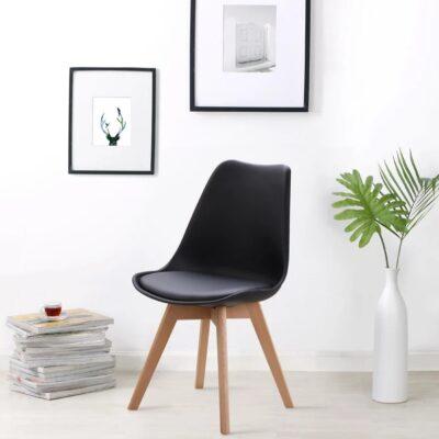 Retro Pad Chair Black