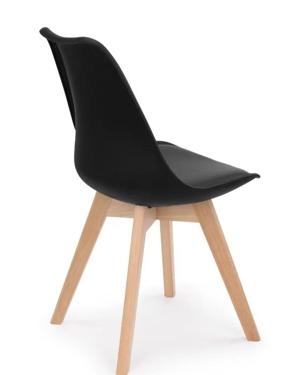 Retro Pad Chair Black (5)