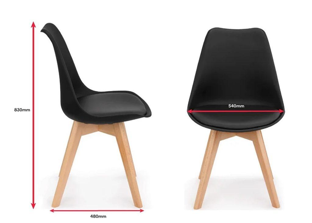 Retro Pad Chair Black (6)