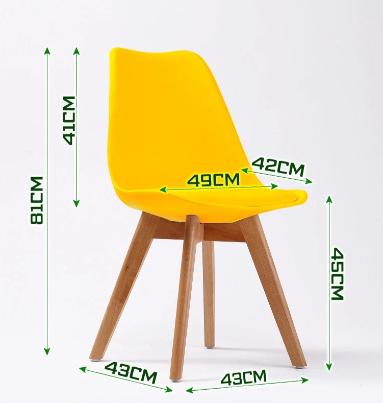 Retro Pad Chair Yellow (1)
