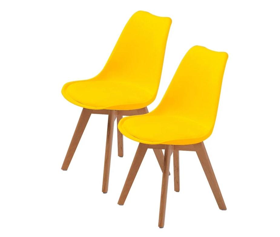 Retro Pad Chair Yellow