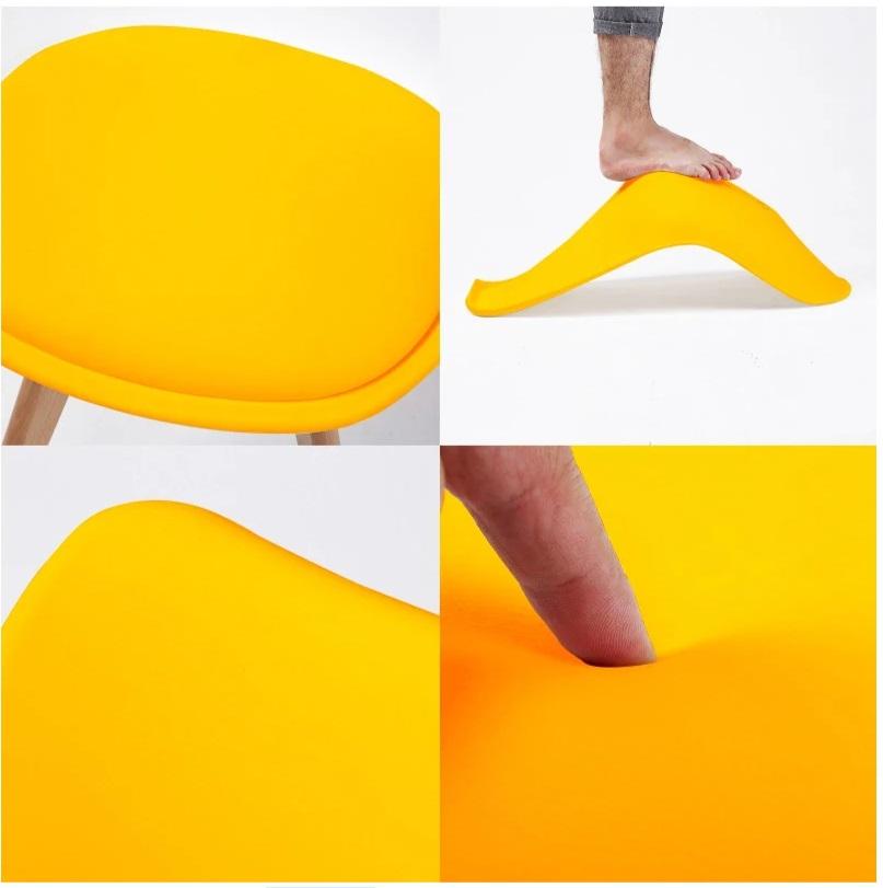Retro Pad Chair Yellow (4)