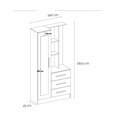 Multipurpose Dresser Cabinet