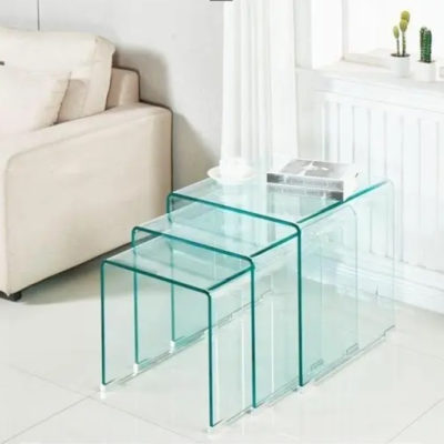Ghost Glass Side Table