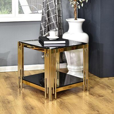 Royal Crest Server Table Gold