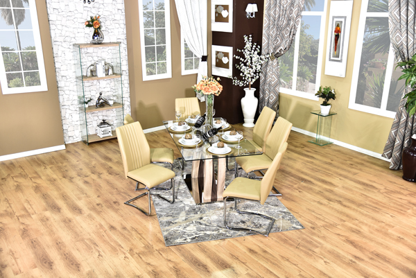 California Dining Suite brown (2)
