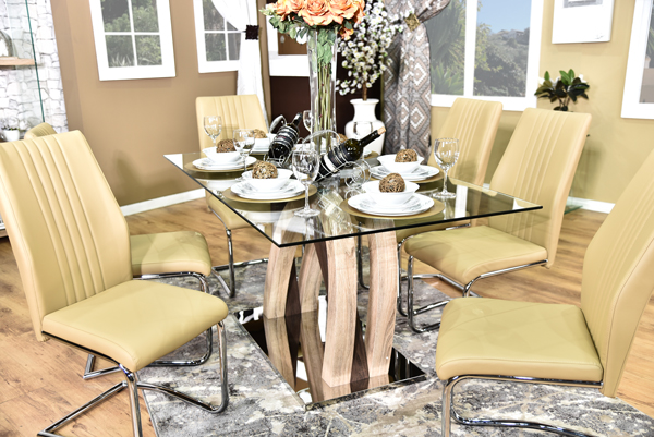 California Dining Suite brown (4)