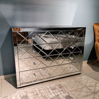 Belleza Mirror Chest of 4 Drawers