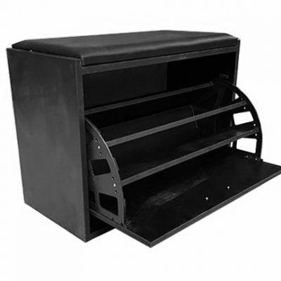 Ottoman Shoe Cabinet - Black
