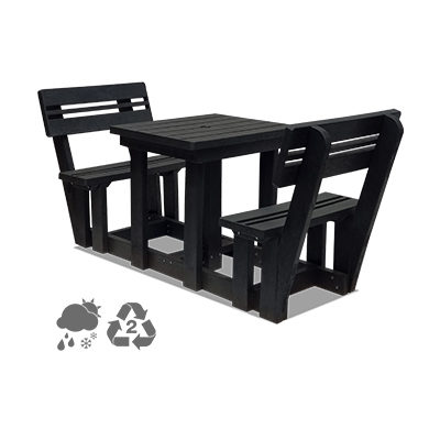 Picnic Table & Bench 2 seater with backrest